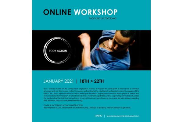 ONLINE WORKSHOP BODY ACTION | FRANCISCO CORDOVA