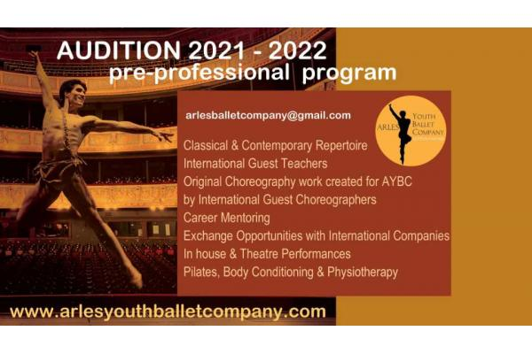 AUDITION ARLES YOUTH BALLET COMPANY