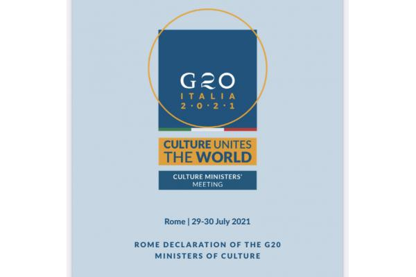 ROME DECLARATION OF THE G20 MINISTERS OF CULTURE